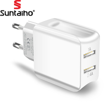 Suntaiho Universele Dual Usb-poort Charger Reizen Lader Adapter Smart Mobiele Telefoon Oplader voor iPhone/Samsung/Xiaomi/iPad(China)