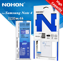 Original NOHON Battery EB-BN910BBE For Samsung Galaxy Note 4 N910F N910C N910U N910V N910T N910H N910A N910X N910P 3220mAh(China)