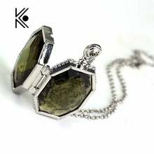 HP Horcrux Locket Glass Box Alloy Pendant Cool Necklaces Necklace Chain Decoration Charm Gift For Fans Cosply Movie Jewelry