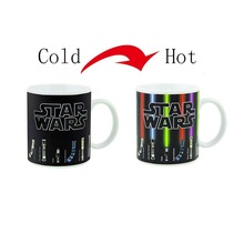 Hot Sale New Fashion Tea Coffee Mug Magic Mugs Cup Change Color Star Wars Lightsaber Heat Reveal Ceramic Mug