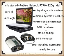 Best Fujitsu Lifebook P770+MB Star C4 SD Connect+Vediamo/DTS Xentry Diagnostics System Compact 4 Mercedes Diagnosis Multiplexer(China)