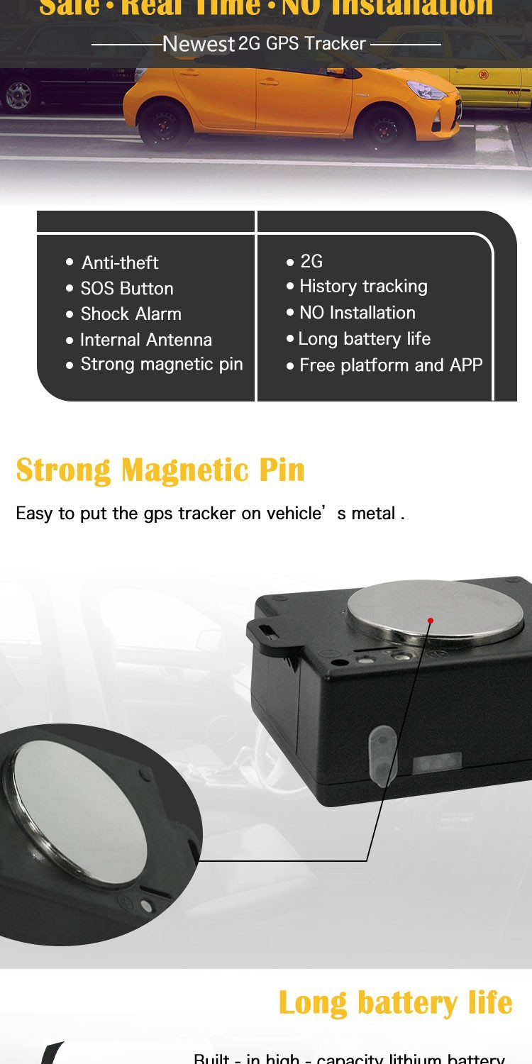 waterproof long standby time gps tracker