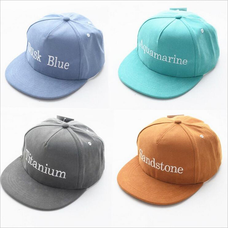 New 2016 Hot Kids Snapback Letter Embroidery Children Cotton Baseball Cap Baby Boys Girl Snapback Caps Hip Hop Hats(China (Mainland))