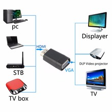 Durable HDMI Male To VGA RGB Female Cable Converter Adapter Signal Transmission For Many Electronic Product