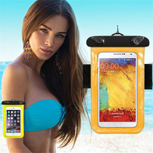 Universal Travel Swimming Waterproof Bag Case Cover for Iphone 5 5s 6 6s Samsung Galaxy Under 5.5 inch Cell Phone(China)