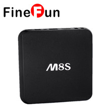 FineFun M8S Android TV Box 2G/8G Dual band 2.4G/5G wifi Android4.4 Amlogic S812 Chip 4K KODI 16.0 Full HD 4K Smart tv HDD player