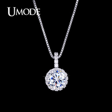 UMODE Bijoux Female Top Quality Multi Prongs AAA+ CZ Pendant Necklace For Women Wholesale Cheap Jewelry Stores AUN0060(China)