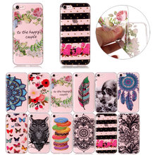 Fashion Soft TPU Phone Case for iPhone 8 7 7Plus Clear Silicone Ultrathin Cover for iPhone 6 6s Plus 5 5S SE X /iPod iTouch 5 6