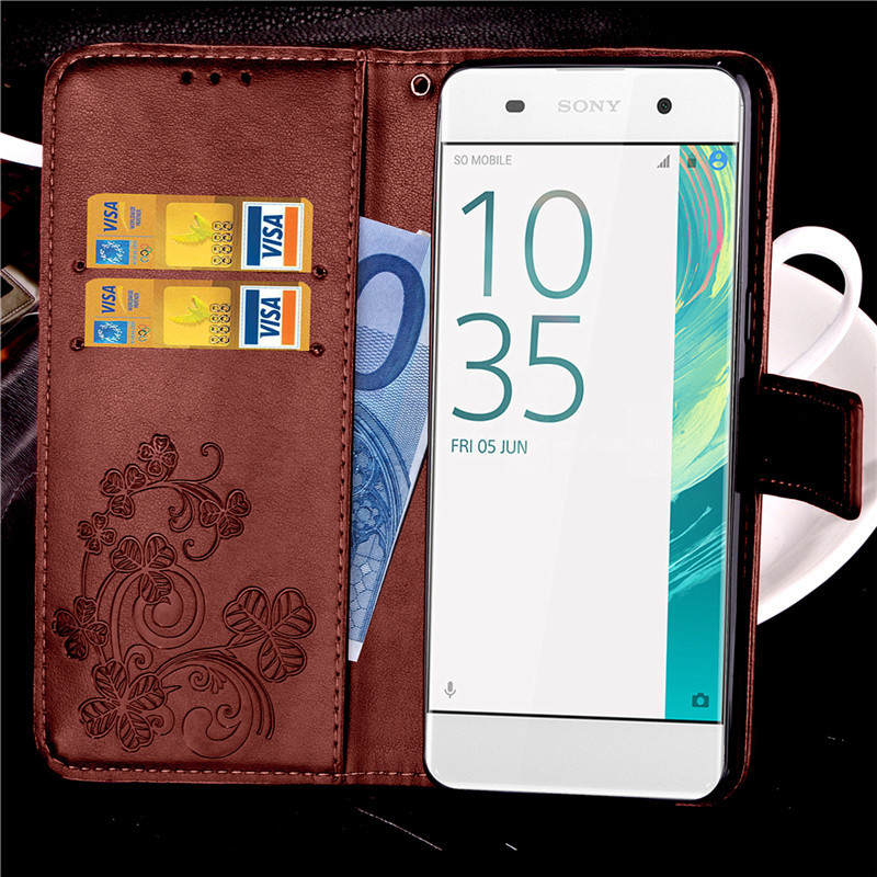 Phone Wallet CaseFor Sony Xperia X Case Flip PU Leather Sony X Dual F5122 Card Holder Soft Silicone Cover 5 inch Coque ^
