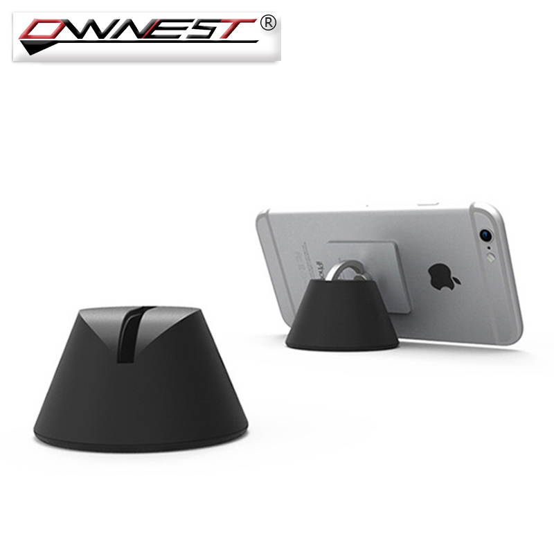 Ownest Universal Ring Door Dock Phone Holder 360 Degree Rotative For Car Desk Wall Stand Smartphone Mount With PVC Gift Box(China (Mainland))