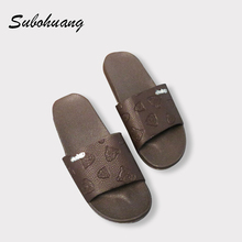 Buy Brand Fashion Summer Slippers Men Leather Beach Fretwork Casual Flat Shoes Soft Non-slip Slippers Sandals Hot Selling for $11.30 in AliExpress store