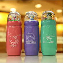 Cartoon Micro Landscape Duo A dream Mug Stainless Steel Vacuum Creative Cute Hello Kitty Male and Female Students Cup