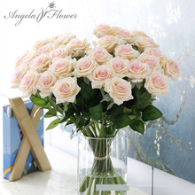 25pcs/lot new artificial flower rose peony flower home decoration wedding bridal bouquet flower high quality