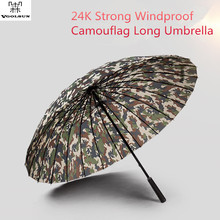 2017 Cool Man Army/Navy/Brown Camouflage Long Handle Umbrella Newspaper &Rainbow Pattern Straight Umbrella With Leather Handle(China)