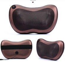 dual-use one button household car neck cervical massage waist back body multifunctional electric massage pillow cushion
