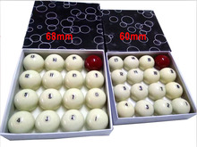 1pc Single Russian Billiards balls 60mm Pool game Resin CUE balls for Russian billiards Original Taiwan High Quality(China)