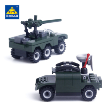 KAZI Air Defense Truck Scout Car Model Building Block Bricks Brinquedos Intelligent Toys for Children 6+Ages 84012 84013