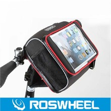 "Buy Roswheel Folding Bike Basket Foldable Bycicle Bicycle Handlebar Bag Cycling Bag Pannier 7"" 8"" inch Phone Case Pouch for $27.99 in AliExpress store"