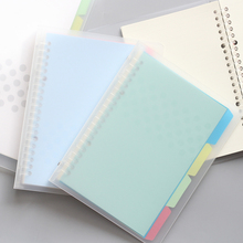 New A4/B5/A5 PP Cover Grid Notebook With Index Pages Bandage Planner Agenda Organizer office & School Supplies