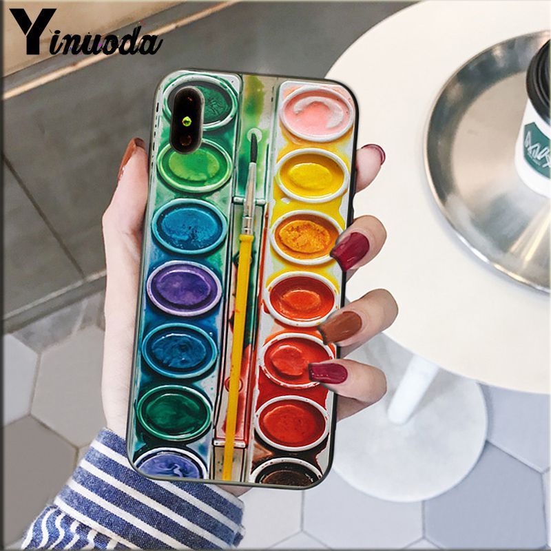 Colorful Watercolors Set Paint Palette Cake Macaroon Makeup