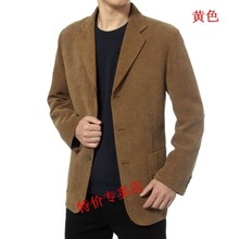 Free Shipping Men Leisure Suit Jacket Spring Autumn Corduroy casual suit Men's clothing Male outerwear Blazers(China)