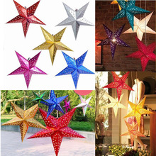 30cm 12 inch shiny star Paper lampshade lanterns flower Party Decor Craft For Wedding Decoration colorful