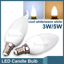 Bombillas 3W 5W E14 Led Candle Light Bulb 2835 SMD Lampada Warm Cool White Led Spotlight Home AC 220V Led Chandelier Bulb Lamps