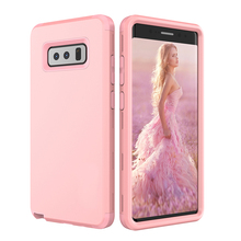 Shockproof Case for Samsung Galaxy Note 8 Note8 Luxury Silicone Hard PC Dual Layer Heavy Duty Armor Defender Protect Case Cover(China)