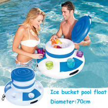 Summer Inflatable Water Ice bucket Inflatable Float Pool Swim Ring Holiday Water Lounge Fun Pool Toys Beer Drink Fun Pool Toy