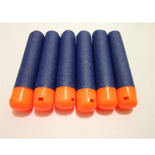 New Arrival 9.5cm Blue EVA Toy Gun Bullets Soft Refill Darts Whistle Sound Sniper Bullets Outdoor Toys Gifts 30 PCS(China)