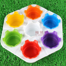 14 Holes Plastic Hexagon Painting Palette Students Artist Paint Palette Art School Supplies Drawing Tool High Quality 1 Piece
