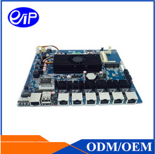 motherboard price Intel Atom D525 CPU 6 LAN GM3150 Graphics DDR3L 4GB Intel ICH8M SATA Mini itx motherboard Made in china(China)
