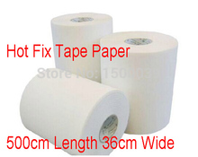 Hot fix paper & tape 5M length/Lot ,36CM wide iron on heat transfer film super quality for HotFix rhinestones DIY tools