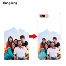 HongJiang Custom DIY Photo Cover case for iphone 4 4s 5 5s SE 5c 6 6s 7 plus samsung galaxy S3 S4 S5 S6 S7 mini EDGE Note 3 4 5(China)