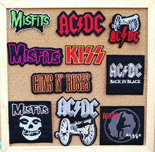 Kiss Band music iron on patches cloth badge applique coat cowboy shirt Embroidered wholesale(China)