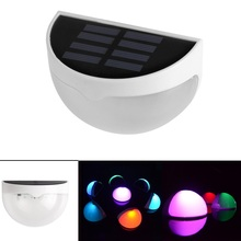 LED Solar Light Panel Powered Light Sensor Led Lamp Energy Saving Wall Lamp Security Light for Outdoor Garden 7 Colors Changing