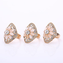 2016 Retro Large Natural Stone Party Rings Vintage Unique Opal Rings Women's Accessories Jewelry Female Punk Boho Wedding Rings