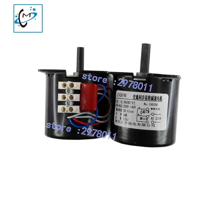 Free shipping Eco solvent printer take up system motor for  Mutoh VJ1604 RJ900C solvent plotter printer paper reel motor<br>