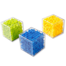 Treeby Brand Plastic ABS 3D Maze Magic Cubic Square Puzzle Game Intellect Ball Puzzle Game Magnetic Balls for Kids Adults Toys