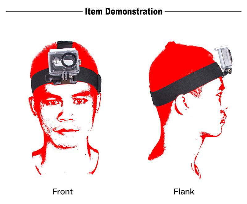 gopro sjcam xiaomi yi action camera accessories head strap4