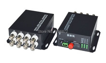 8 Channel Video Optical Converter 8V Fiber Optic Video Optical Transmitter & Receiver 8CH  1 Pair 2 Pieces/lot