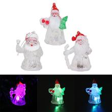 Luminous Merry Christmas Santa Claus Gift Original Plastic LED Decor Christmas Decorations for Home Natal New Year Ornaments