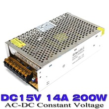 110V 220V AC Input to dc15V Output 14A 200W Switching Power supply Transformer  to DC 15V ups for LED Strip Light CNC CCTV Motor