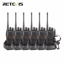 6pcs Walkie Talkie Retevis H777 UHF 400-470MHz Frequency Portable Ham Radio Hf Transceiver Radio Communicator Handy A9105