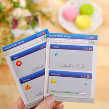 2 Pcs Novelty Creative Computer System Delete Error Dialog Recycle Bin Sticky Notes Post It Adhesive Memo Pad School Stickers(China)