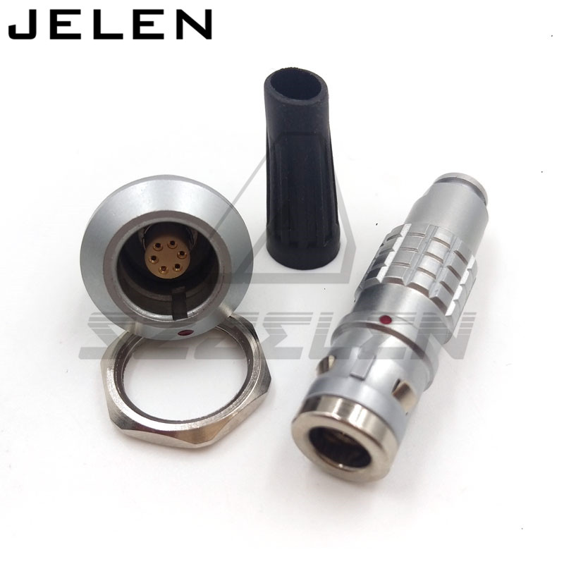lemo 6 pin connector, FGG.0K.306.CLAC,EGG.0K.306.  6-pin waterproof connector, metal circular plug self-locking connector IP68<br><br>Aliexpress