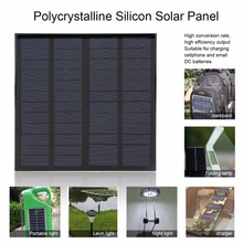 3W 12V 125mAh Solar Panel Small Solar Cell PV Module Polycrystalline Silicon for DIY Solar Display Light Battery Charger