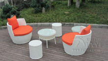 6 pcs UV Resistant Fashion Obelisk Chair With Round Tea / Coffee Table transport by sea(China)