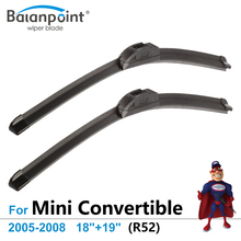 "Wiper Blades for Mini Convertible (R52) Cooper 2005-2008 18""+19"", Set of 2, Best Car Accessories"