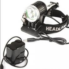 3 x XM-L T6 1800Lm Aluminum Alloy Glass Lens LED Headlamp / Bicycle Light + 6600mAh Battery Pack(China)